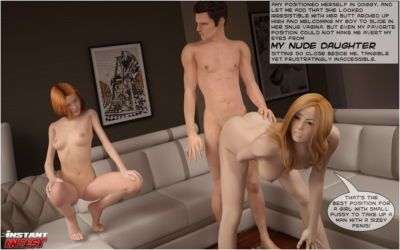 [Instant Incest] Special care for our horny daddy - part 2