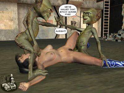 3d Tentacles and Alien Rape - part 3