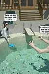 Dad have sex with daughter in the pool