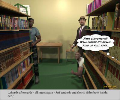 3Darlings Model Nadia at the Library - part 4