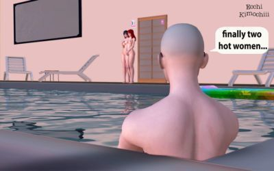 """Nudist Pool\"" part 1/3 (erotic 3D) (English ver.) (decensored) (+18) (3d hentai animation) \""Ecchi Kimochiii\"" - part 4"