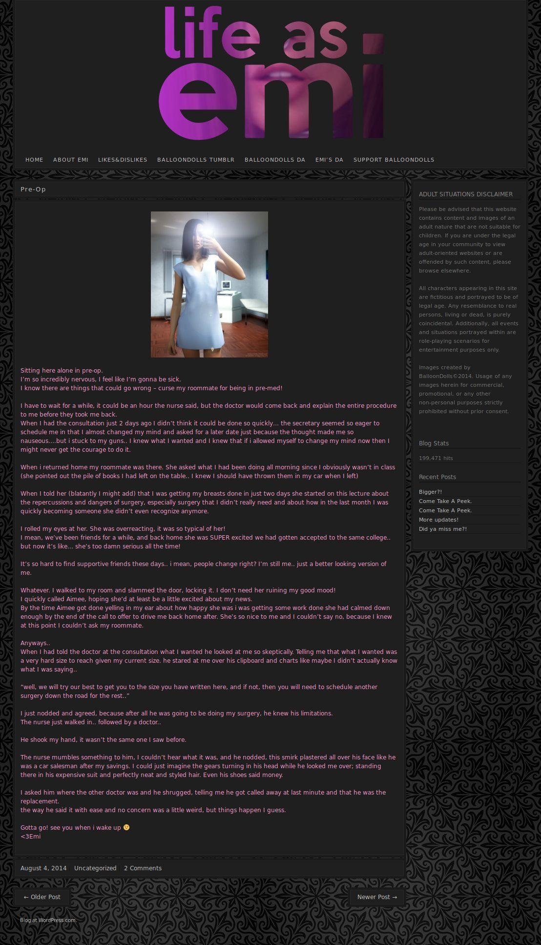 [Balloondolls] Life as EmiDoll (WP screengrab) - part 2