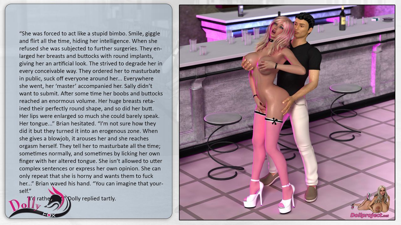 Cyber Hooker and Dolly Fox - futuristic breast expansion - part 2