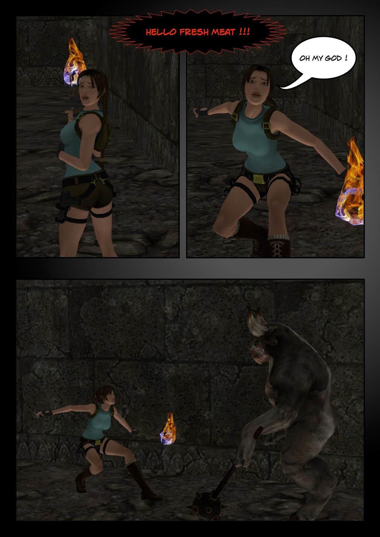 Lara Croft Vs The Minotaurus W.I.P.