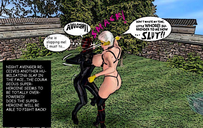 Superheroine Night Avenger vs Lady Vixen