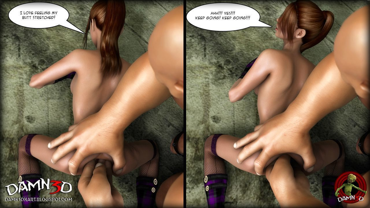 [Damn3d] A giant gift for her birthday - part 3