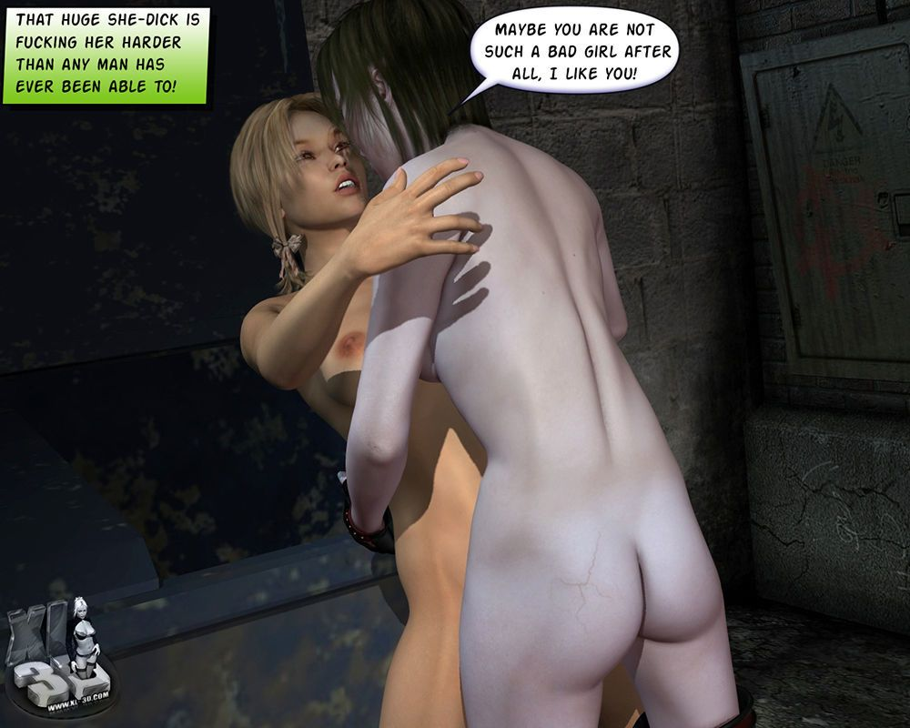 Naughty girl gets assaulted in a dark alley by a mean bitch!
