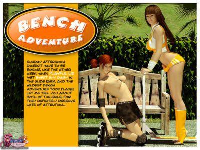 Bench Adventure  Shemale 3D Futanari