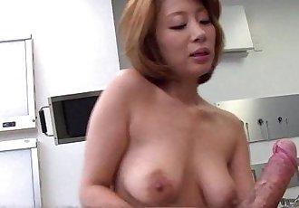 Astonishing Asian slut rides the cock on the floor - 8 min HD