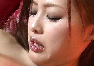 Slutty Japanese Suzuka has a good time fingering an toying her tight snatch - 5 min