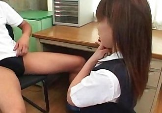 Sexy Japanese girl Yuki Hirai fucked in school classroom! - 10 min