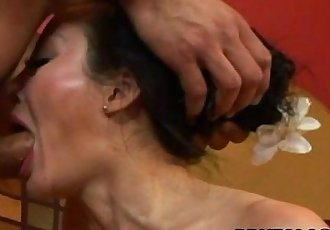 Asian milf getting her ass hole ravaged - 8 min