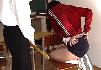 009 Student Skipping Sports Class Gets Spanking - 5 min