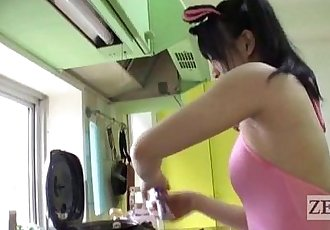 Japanese AV star bizarre rice balls armpit pressing Subtitled - 5 min