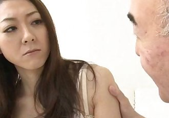 Ruri Hayami young doll meets senior cock - 12 min