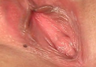 Aroused asian gets juicy cunt hole spread in close-up - 5 min