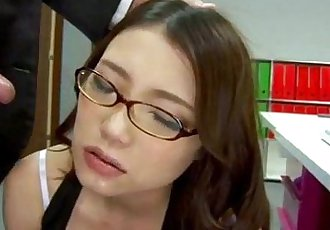 Sweet Ibuki enjoys cock from behind while at work - 12 min