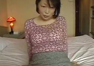 Asian mature masturbate and fuck POV action - 45 min