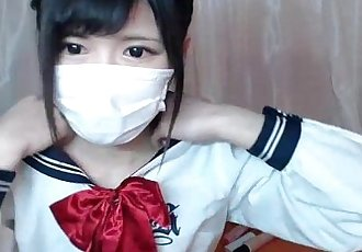 Japanese schoolgirl stripping on cam - 17 min