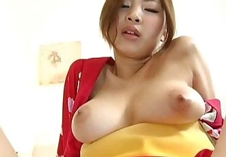 Anna Kousaka has big boobs touched and shaking during frigging - 10 min