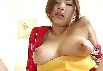 Anna Kousaka has big boobs touched and shaking during frigging - 10 min