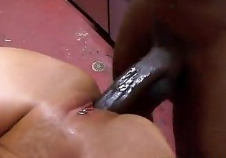 Black Dong Fucks in Kitchen - 7 min
