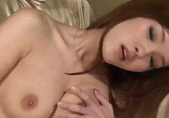 Perky tits Mei Haruka shows off while masturbating - 12 min