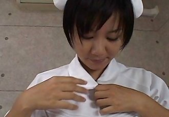 Asian nurse is sucking and titty fucking the cock - 7 min