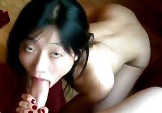 Asian Sucks White Cock - 10 min