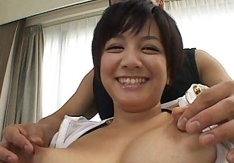 Cute Meguru Kosaka big tits action - 6 min