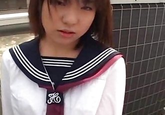 Japanese schoolgirl sucks cock Uncensored - 7 min