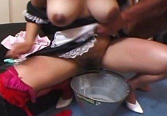 Horny Asian maid hottie Yui Tokui pussy dripping - 5 min