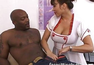 Big tit Asian nurse checking this guy out - 23 min
