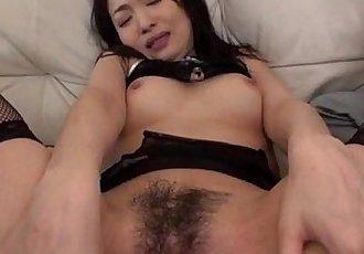 Young lingerie doll Ryu Enami feels pleasure on pussy - 12 min