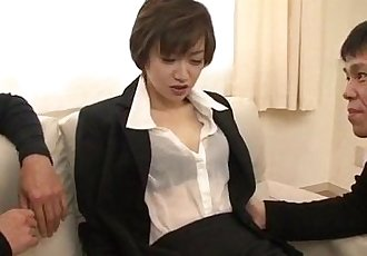 Great office xxx play for lustful Akina Hara - 10 min