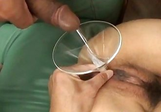 Miina Minamoto is aroused with vibrator and gets cum in asshole - 10 min