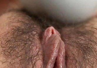 Aoi Mizumori plays with pussy in sensual solo - 10 min
