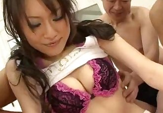 Strong gangbang to please nasty Ryo Kaede  - 12 min
