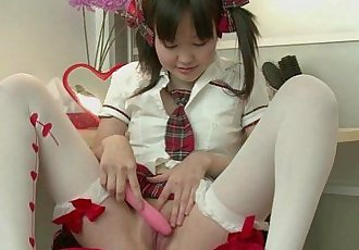 RealAsianExposed Cute Asian Teen Strips And Masturbates - 5 min HD