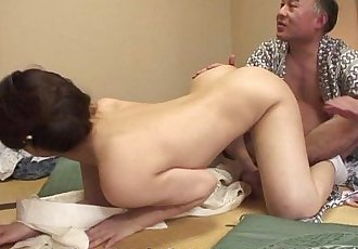 Juicy pussy Asian babe getting plowed in a hot threesome - 8 min HD