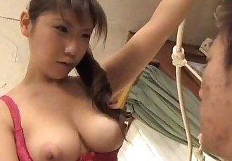 Momo Aizawa shakes big cans while is fucked in hairy cooshie - 10 min