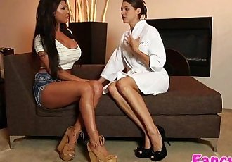 Hotties Sadie Holmes and August Taylor in hot lesbian acttionHD