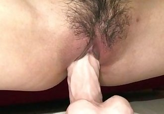 Mizuki Ishikawa tries dildo in her puffy cunt - 12 min