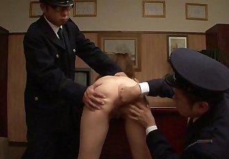 Asian naked prisoner goes through a Clockwork Orange treatment - 8 min HD