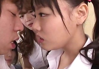 Asian Schoolgirls Seduce Classmate - More Videos at HotAsianOnline.com - 7 min