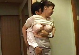 Japanese step mom milf with big tits getting pleasured - 7 min