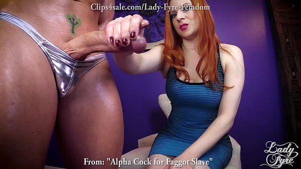 Apha Cock for FAGGOT slave F0. rced Bi FEMDOM -Lady FyreHD