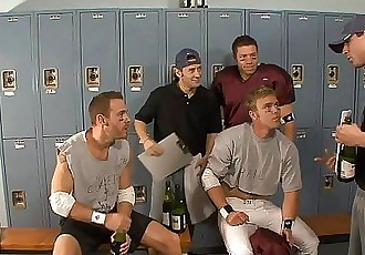 Threesome jocks in locker roomHD