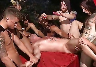 Outdoor Halloween Ritual Fuck