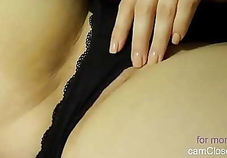 Royal Lady Masturbates under Lingerie with Cock Cumshot Allover 14 min